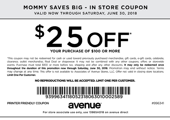 25 Off 100 Avenue Coupon
